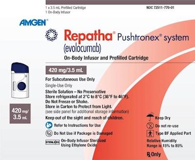 REPATHA 420 MG SYS 3.5 ML by Amgen
