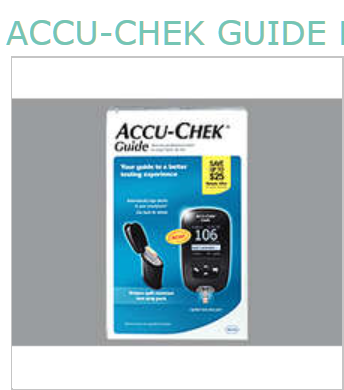 Accu-Chek Guide Meter Kit By Roche Diagnostic