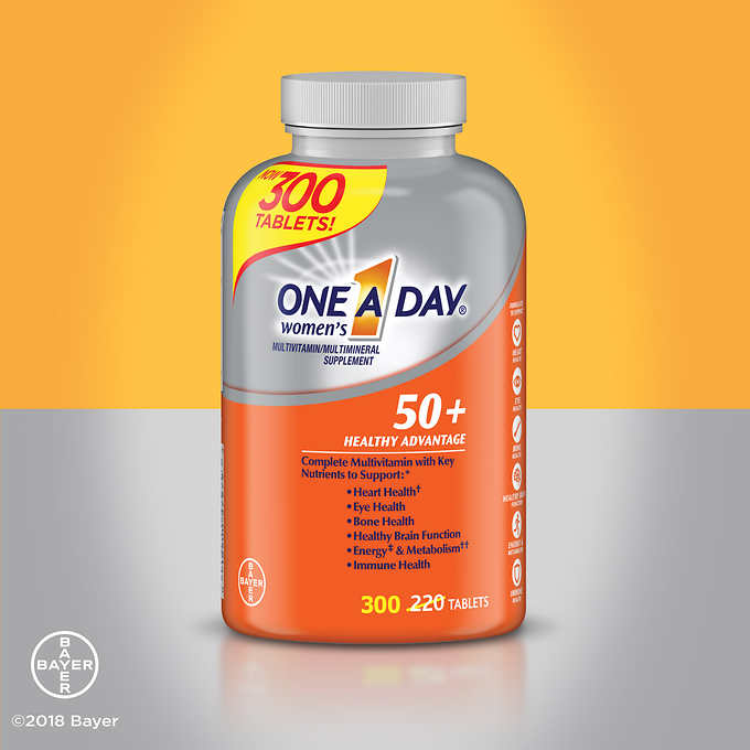 One-A-Day Women's Multivitamin Multimineral 50+ 300 Tablets