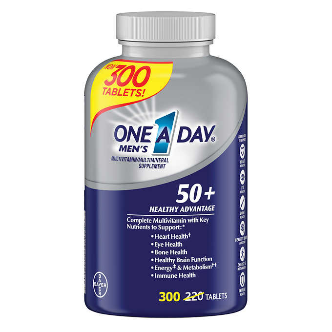 One-A-Day Men's Multivitamin Multimineral 50+ 300 Tablets