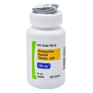 Doxycycline Hyclate 100mg Tab 500 by Lupin Pharma 11/19