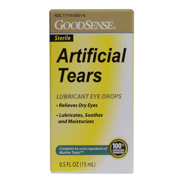 Artificial Tears Drops Sterile Goodsense 0.5 oz 15ml By Perrigo