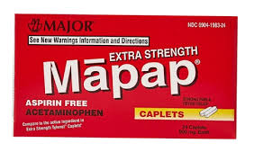 MAPAP Acetaminophen 500mg Caplet 50Ct Free Shipping