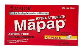 Case of 24-MAPAP Acetaminophen 500mg Caplet 50Ct