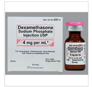 Dexamethasone 4Mg/Ml Vial 25X1Ml By Auromedics Pharma item No.:RX516658 516658  NDC No.55150-0237-01 5515023701 55150-237-01 55150023701 UPC No.:355150-237012 3-55150-23701-2 355150237012   MPN 23701