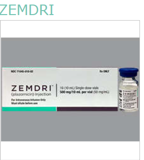 Rx Item-ZEMDRI (PLAZOMICIN)- plazomicin injection BY Achaogen, Inc. 500MG/10ML
