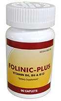 FOLINIC-PLUS (Vitamin B6, B9 & B12) 90 Count Pro-Pharma