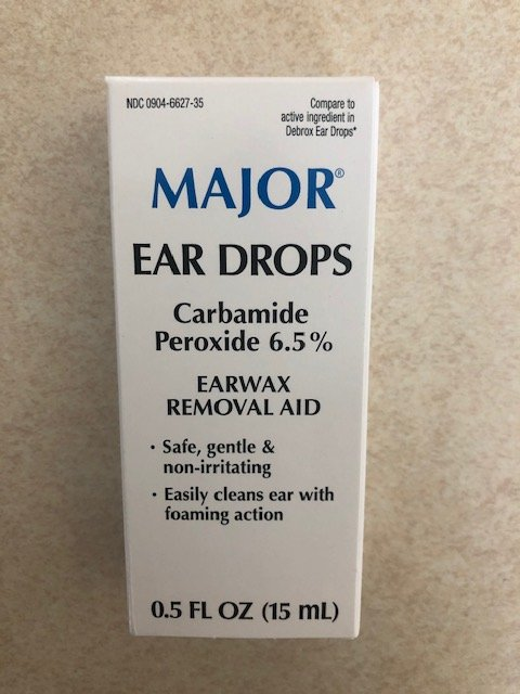 Ear Drops Carbamide Peroxide 6% Wax Removal Aid Drops - 0.5 Fl oz