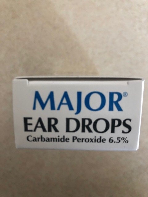 Eardrops Gen Debrox Carbamide Peroxide 6% Wax Removal Aid Drops - 0.5 Fl oz  by Major Pharma  Item No.:615075 615075 NDC No.: 00904-6627-35 0904-6627-35 0904662735 00904662735  UPC No.: 3-09046-62735-