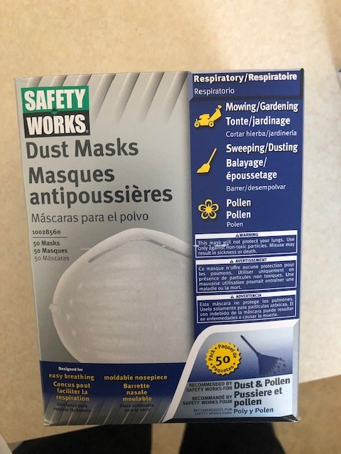 Safety Works Non-Toxic Dust Mask Box of 50 by Safety Works BUNZI