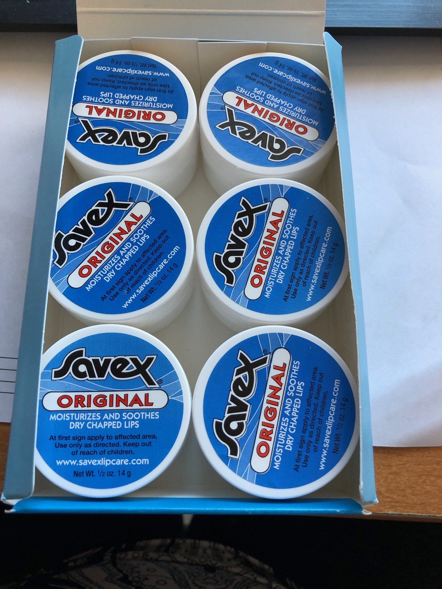 Savex Lip Balm ORIGINAL 6x1/2oz original jar