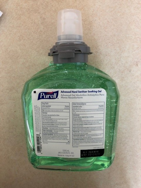 Gojo Purell� Advanced Instant Hand Sanitizer Case 5457-01 with Aloe, 1200mL Ea