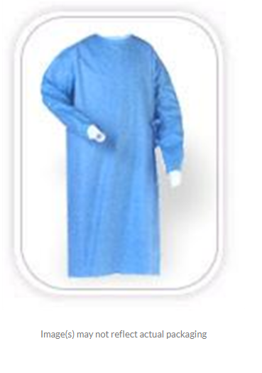 Evolution 4 Non-Reinforced Surgical Gown with Raglan Sleeves, Blue, Large