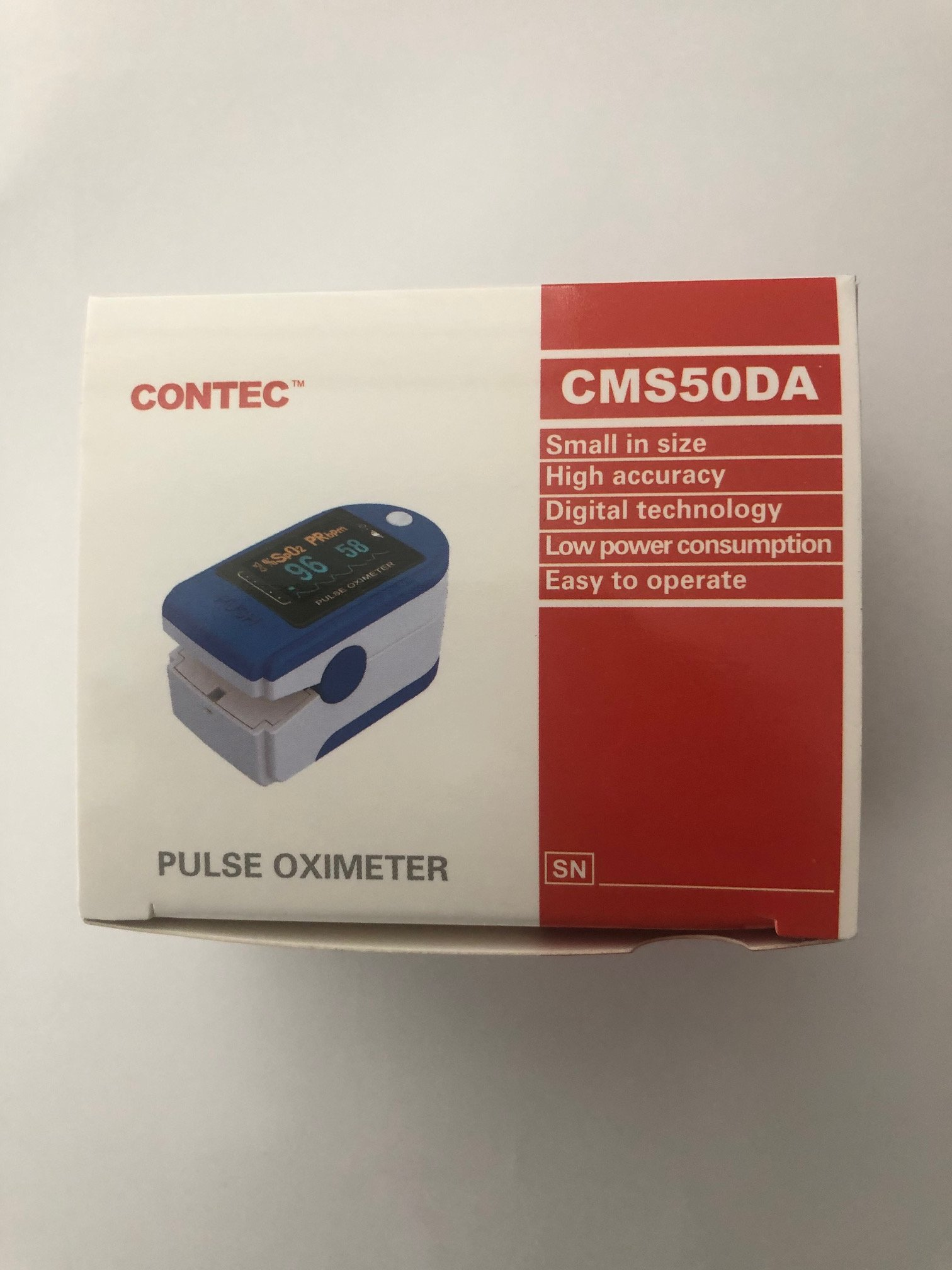 '.Pulse Oximeter by Contec Verid.'