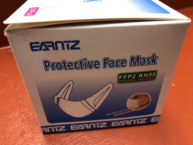 Protective Face KN95 Elastic Ear-Loop mask  FFP2 KN95 BFE>95% One Box of 5- Masks