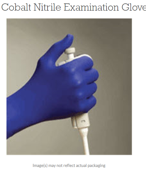 Cobalt Nitrile Disposable Gloves, Blue, Large Box of 100 by Microflex
