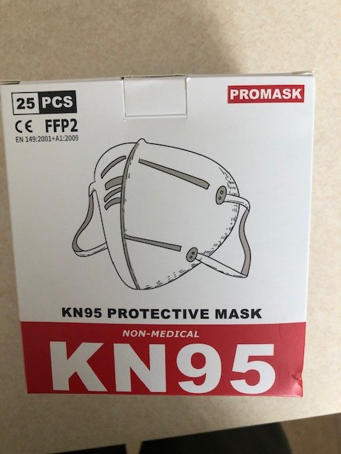 KN95 5 PROTECTIVE MASKS Box of 25 PCS by PROMASK ELECTRONIC