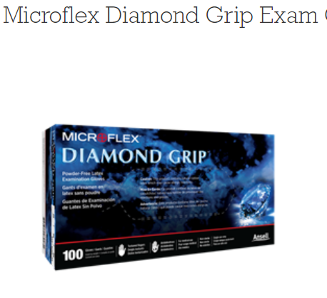 Microflex Diamond Grip Powder-Free Latex Exam Gloves 100 Mf-300-XL By Microflex
