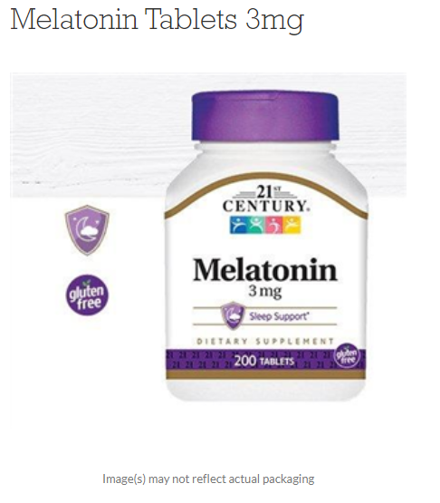 Melatonin 3 mg 100 TAB By 21st Century OTC