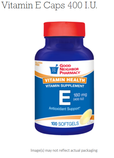 Vitamin E Caps 400 I.U.GNP By 21st Century OTC CASE OF 12