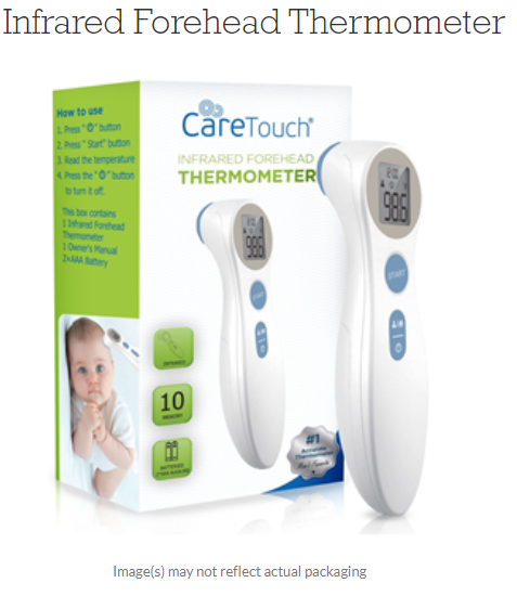 Infrared Forehead Thermometer CareTouch by Future Dianostics