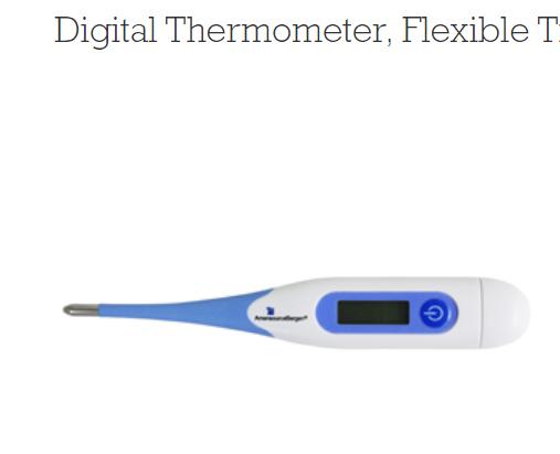 Digital Thermometer 10 seconds waterproof Fever Alarm Flexible Tip