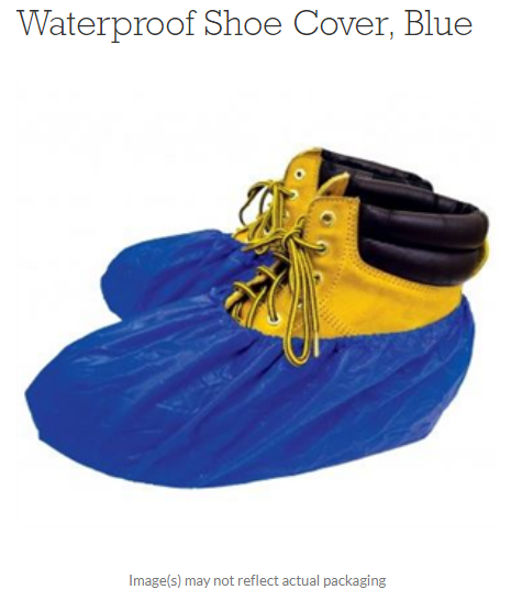 SHUBEE Waterproof Shoe Cover, Blue BOX OF 40 PAIRS