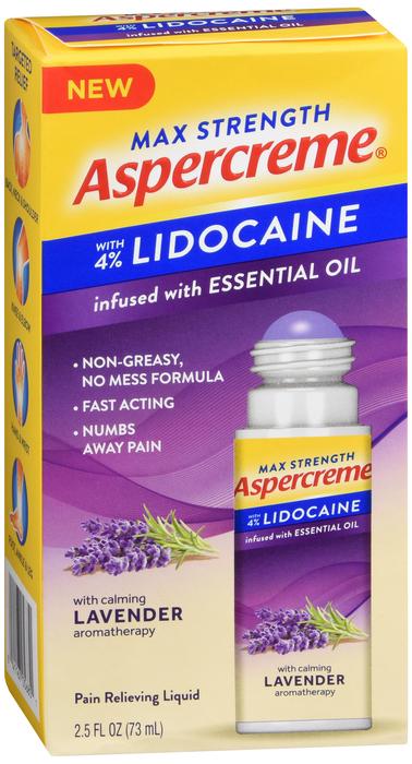 Free Shipping-Aspercreme W/LIDO NO MESS LAV R/O 2.5OZ Case of 24