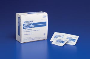 Cardinal Health Curity Webcol Sterile Alcohol Pads Case 200/bx, 20 Box/Case