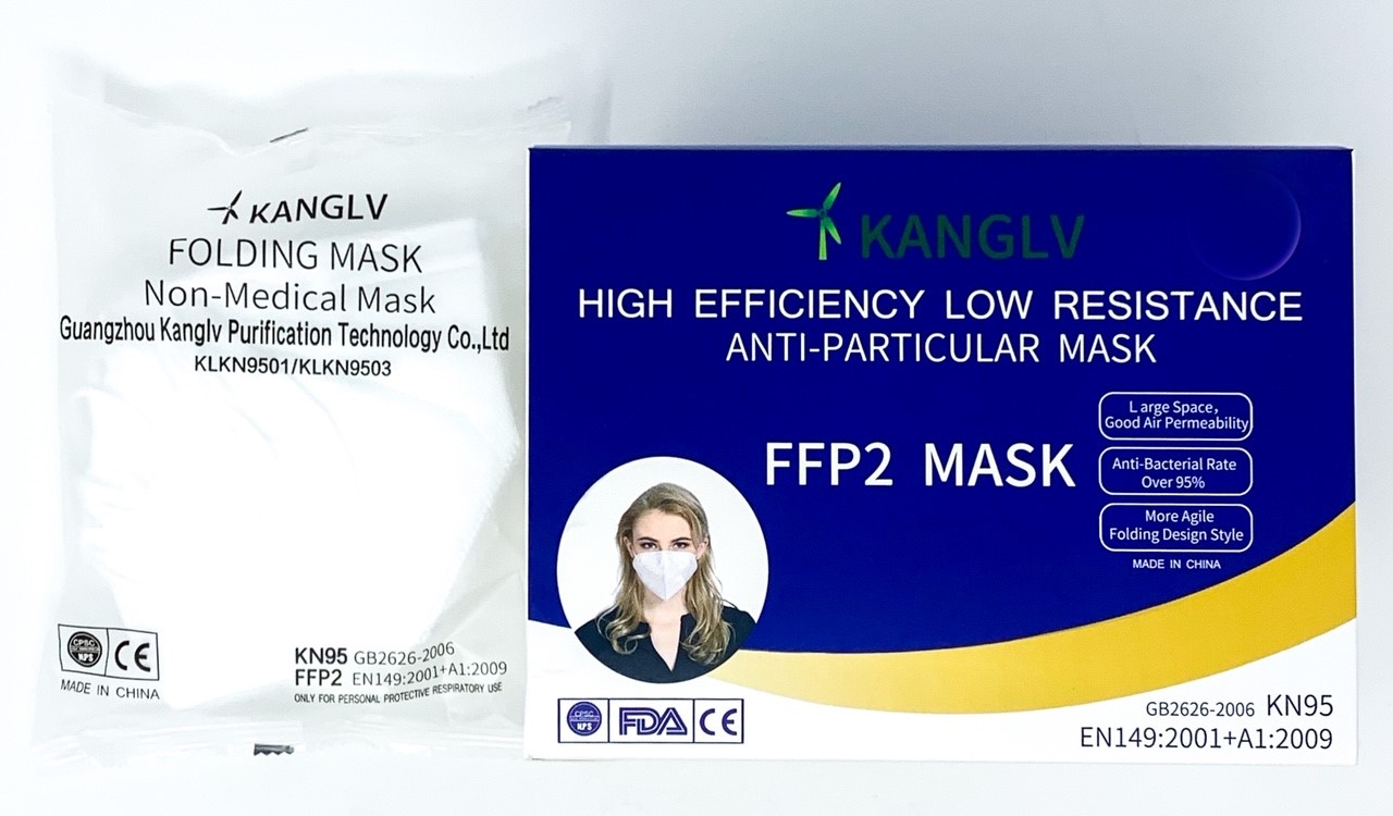 Free Shipping-FFP2 Anti-Particulate Non-Medical <95% Folding Mask (5 pack)