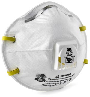 3M Particulate Respirator 8210V By 3M Health Care BOX OF 10