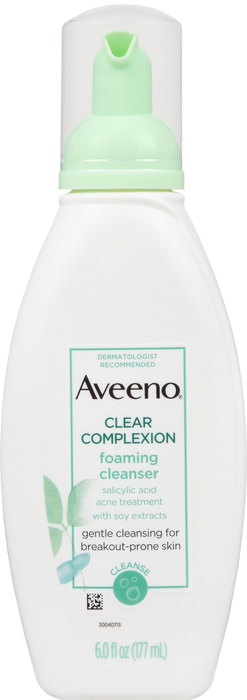 Aveeno Clear Complexion Cleansing Foam 6Oz By J&J Consumer