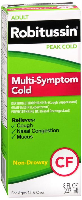 Robitussin Peak Cold Multi Symptom 8 oz