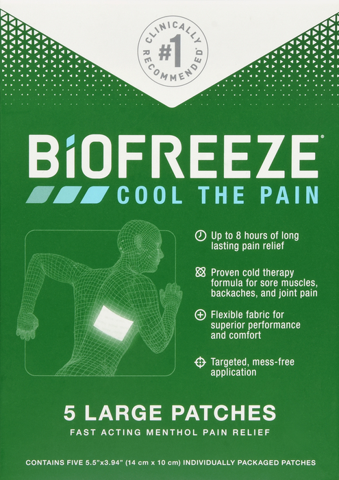'.Biofreeze Patch 5 Count by HYG.'