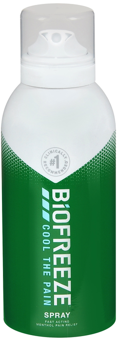 Case of 24-Biofreeze PAIN RELIEVING 360 SPRAY 3OZ  by HYGENIC CORPORATION