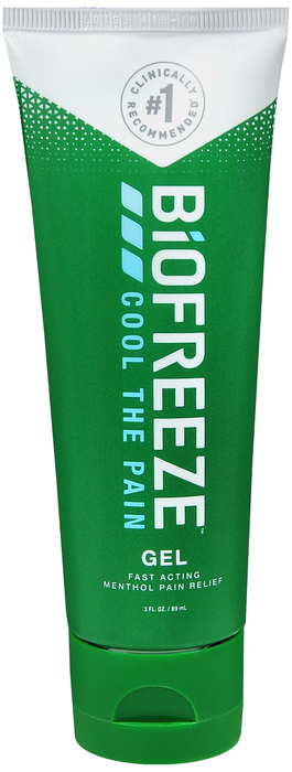 Case of 24-Biofreeze PAIN RELIEVING GEL TUBE 3OZ  by HYGENIC CORPORATION