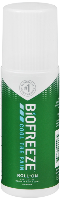 Case of 24-Biofreeze PAIN RELIEF ROLL ON 2.5OZ  by HYGENIC CORPORATION