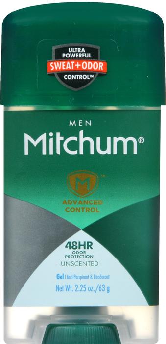 Mitchum Antiperspirant Deo Power Gel Unscent Deodorant 2.25 oz Item No. OTC508556, 508556, NDC# 00997-3155-00 00997-155-00 0099731550 00997315500 UPC Code: 0-30997-31550-0 030997-315500 030997315500