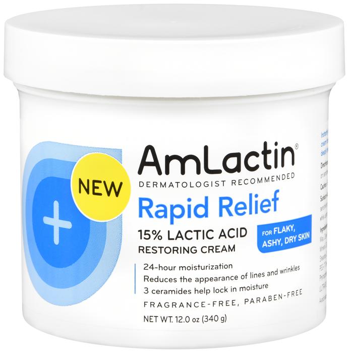 Item No. OTC988081, 988081, NDC# 30781-7168-12 30781-168-12 3078171681 30781716812 UPC Code: 0-30781-71681-2 030781-716812 030781716812 Amlactin Rapid Relief Restoring Cream Cream      12OZ by Emerson
