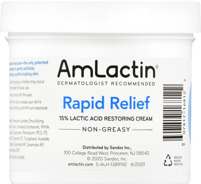 Amlactin Rapid Relief Restoring Cream 12 oz Item No. OTC988081, 988081, NDC# 30781-7168-12 30781-168-12 3078171681 30781716812 UPC Code: 0-30781-71681-2 030781-716812 030781716812