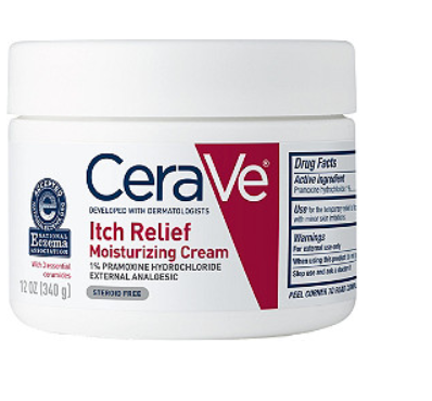 Case of 12-Cerave ITCH RELIEF MOISTURIZING CREAM 12OZ By L'Oreal