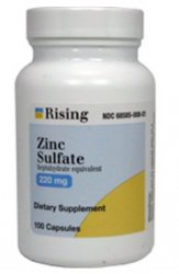 Zinc Sulfate Caps 220mg By Rising Pharmaceuticals