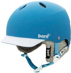 BERN - Lenox Helmet - Matte Cyan Brim w/Grey Knit Liner, XS/S