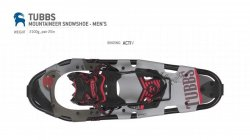 TUBBS - Mountaineer Mens 25 Snowshoes -  2016