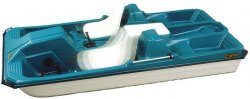 CONTOUR - CAPTAIN V PEDAL BOAT - AQUA or BLUE - 2015 *** IN-STORE PICKUP