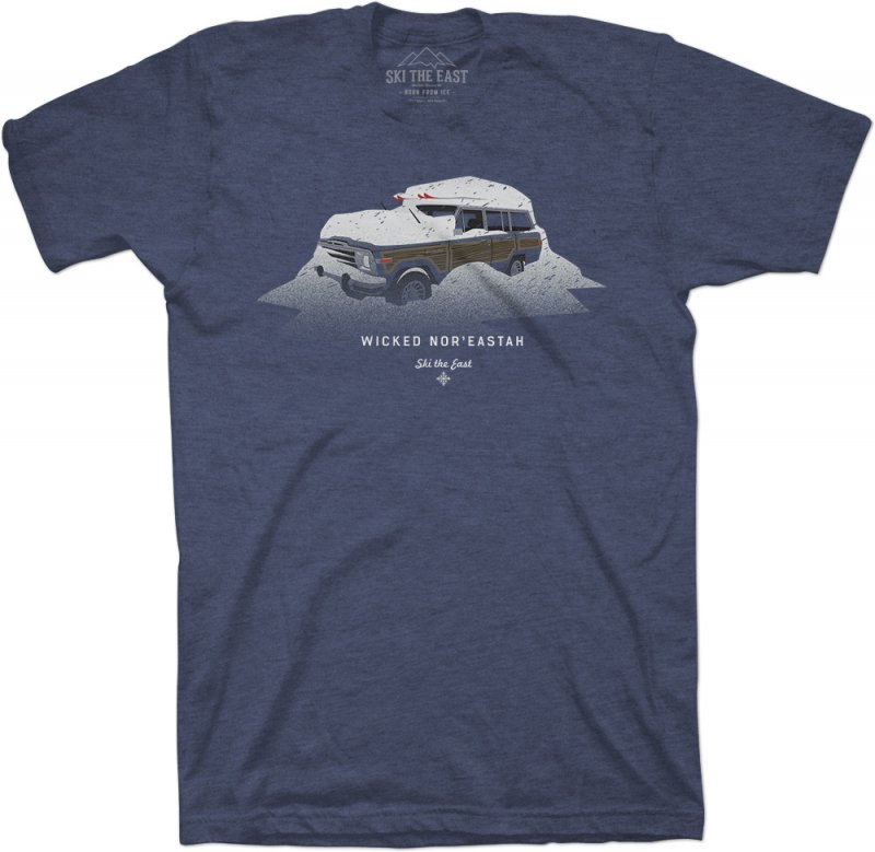 Image 1 of SKI THE EAST - Wicked Nor'Eastah Tee - Midnight Navy  - 2020