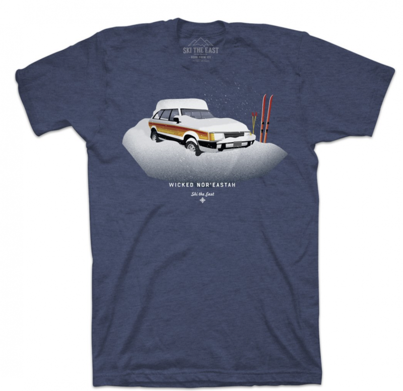Image 0 of SKI THE EAST - Wicked Nor'Eastah Tee - Midnight Navy  - 2020
