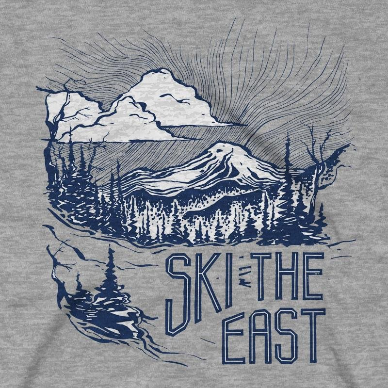 Image 1 of SKI THE EAST - Womens Mystic Mountain Tee , Size XL- 2018