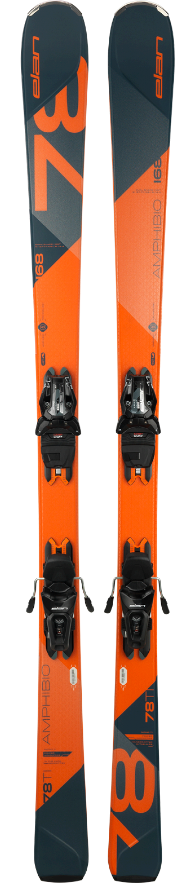 Image 0 of ELAN - AMPHIBIO 78 Ti PS SKIS, 160cm w/ELS11.O GRIPWALK BINDINGS - 2019