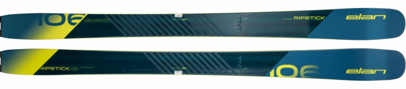 Image 2 of ELAN - RIPSTICK 106 SKIS, 174cm only - 2019